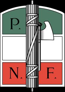 Фасции, связанные в фашину, - эмблема ИНФП