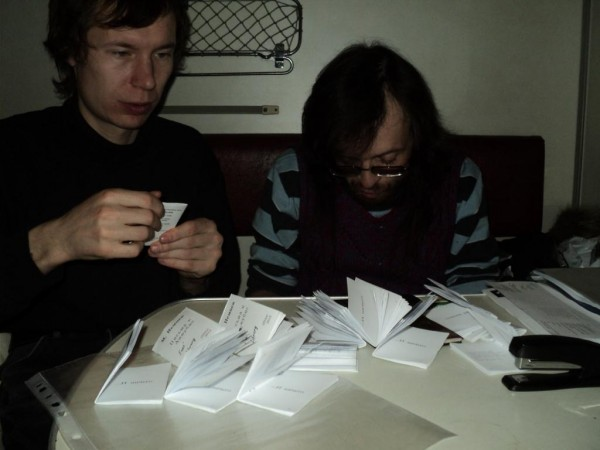 Джим и Даос делают мой сборник в поезде 18-02-12