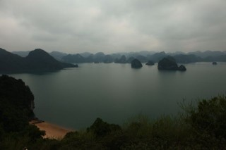 Halong Bay from vantage point