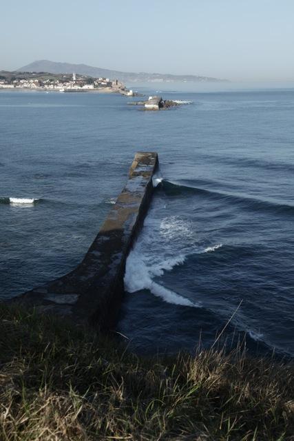 sea wall, st jean de luz