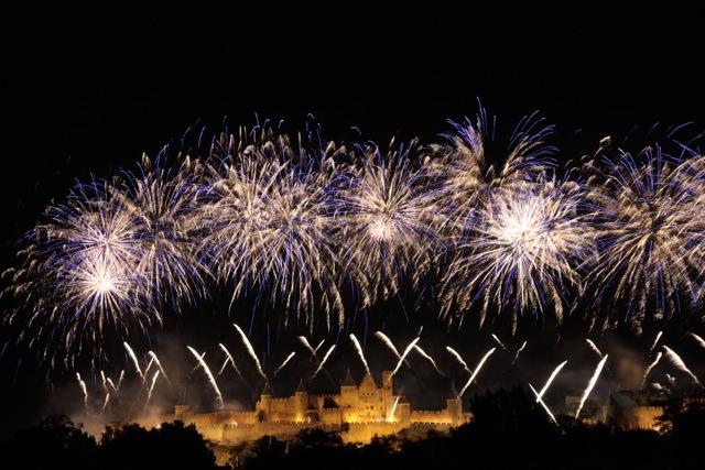 Bastille Day fireworks, Carcassonne 2012