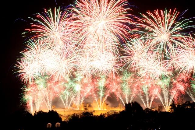 Bastille Day fireworks, Carcassonne 2012 - Grand Finale