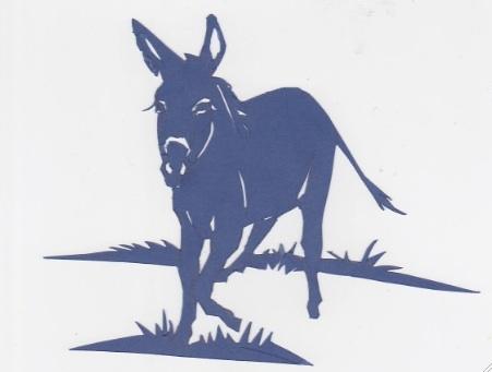 8 Papercut Donkey