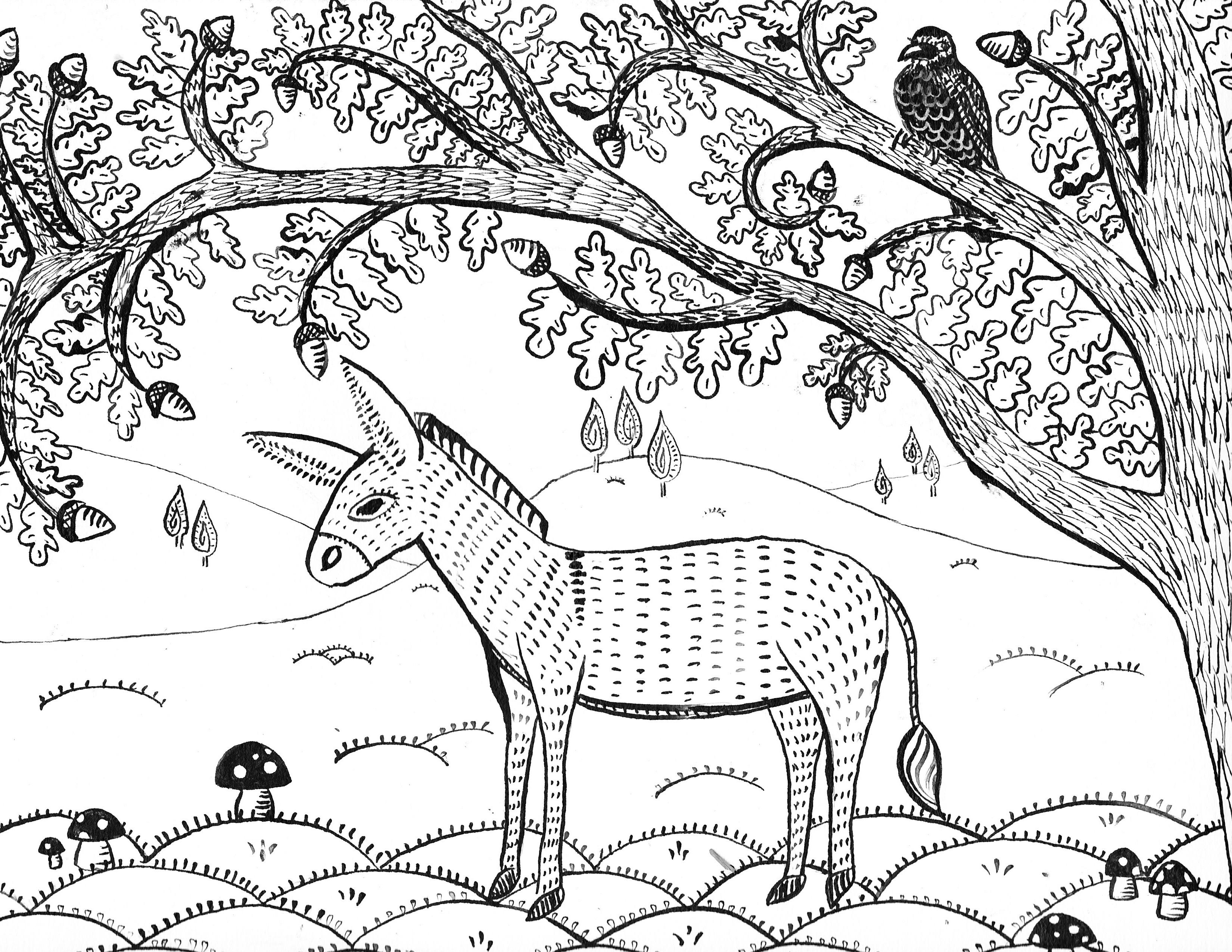15 Mithila inspired Donkey