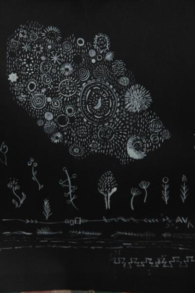 acrylic ink doodle