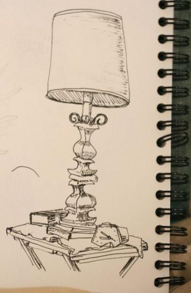 semi-blind contour - lamp