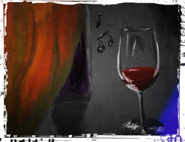 Вечер, немного вина и музыки Rolling Stones