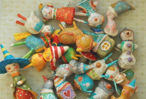 Ватные игрушки своими руками фото