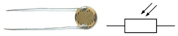 Резистор чувствительный к свету - фоторезистор