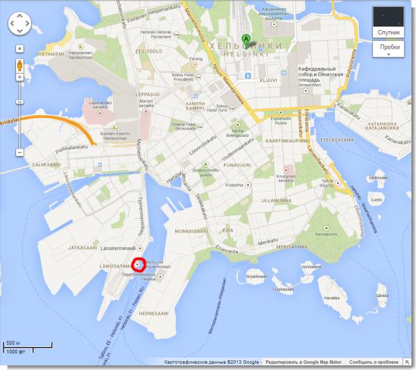 Хельсинки, Финляндия - Карты Google