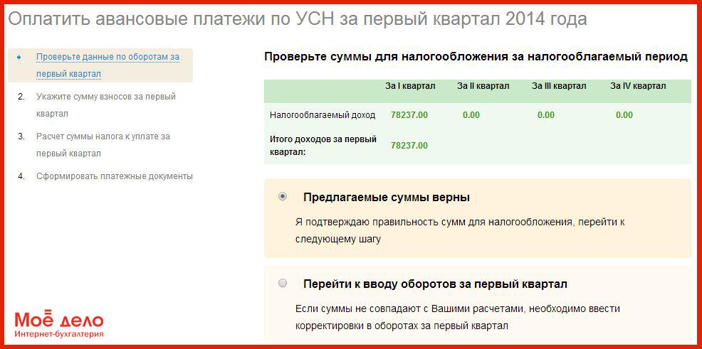 санкции за неуплату авансовых платежей по усн