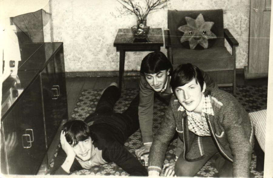 Я, Игорь Токарев и Игорь Казазаев 1984 г
