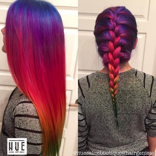 Рыже-фиолетовые волосы