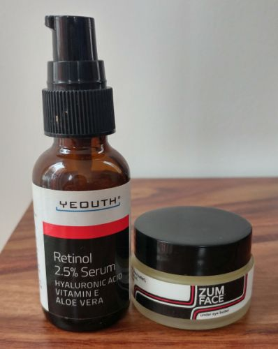 Yeouth Retinol, 2.5% Serum и Indigo Wild, Zum Face, Under Eye Butter