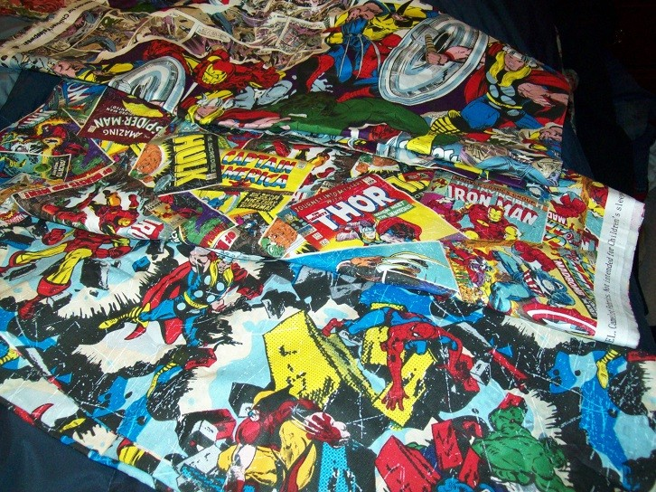 marvel fabric stash