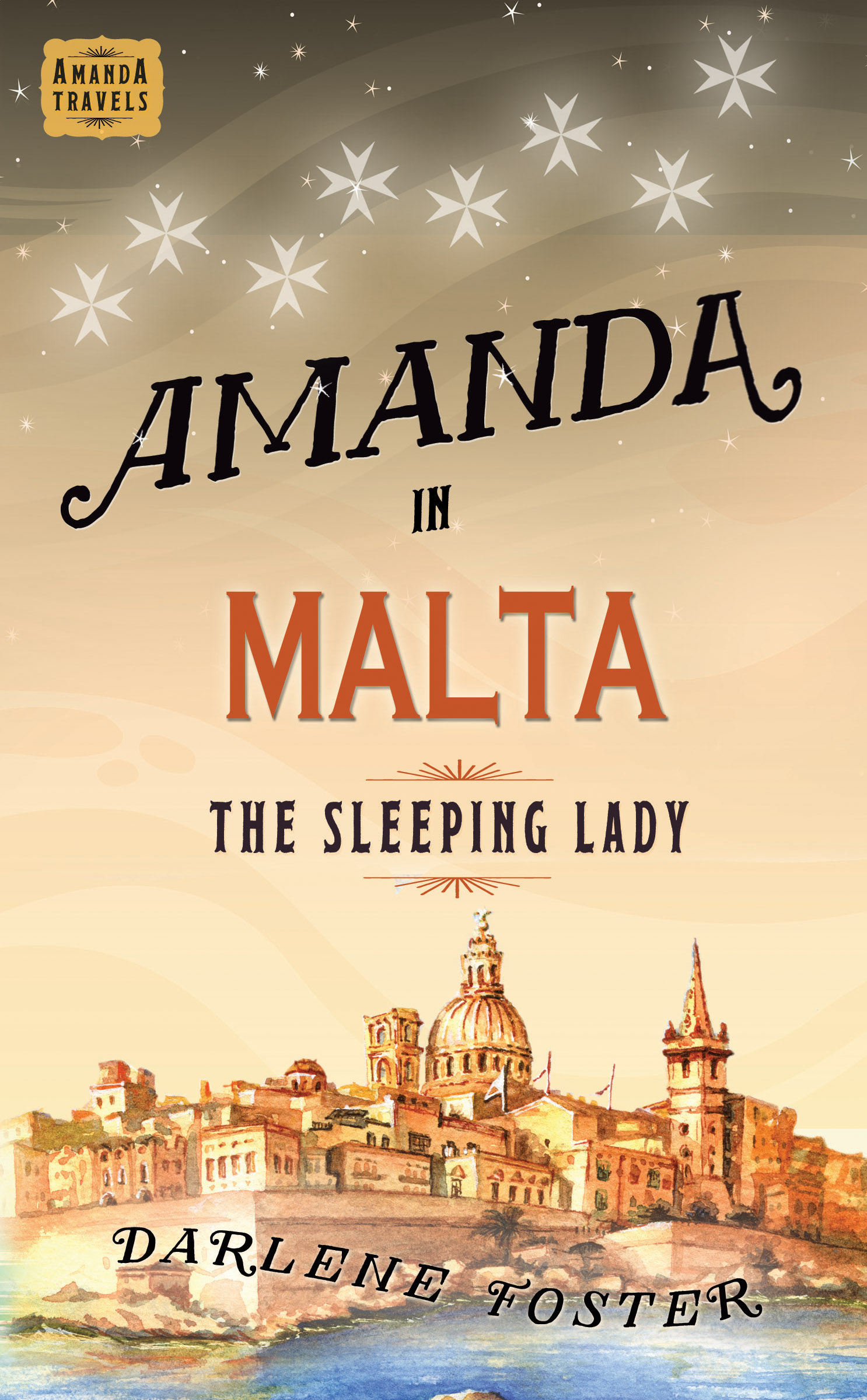 Cover for the book Amanda in Malta: The Sleeping Lady