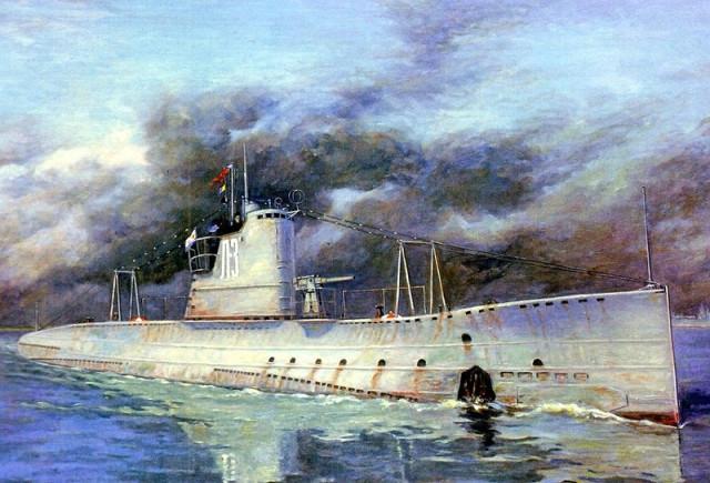 Подводная советская лодка L-3