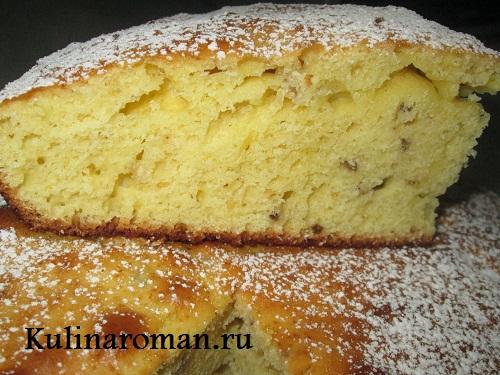 Как сделать пирог бисквитный