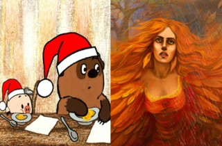 Винни пух зима картинки