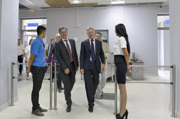 Одно из мероприятий, которое посетил Министр – педагогическая конференция Система образования – основа развития региона