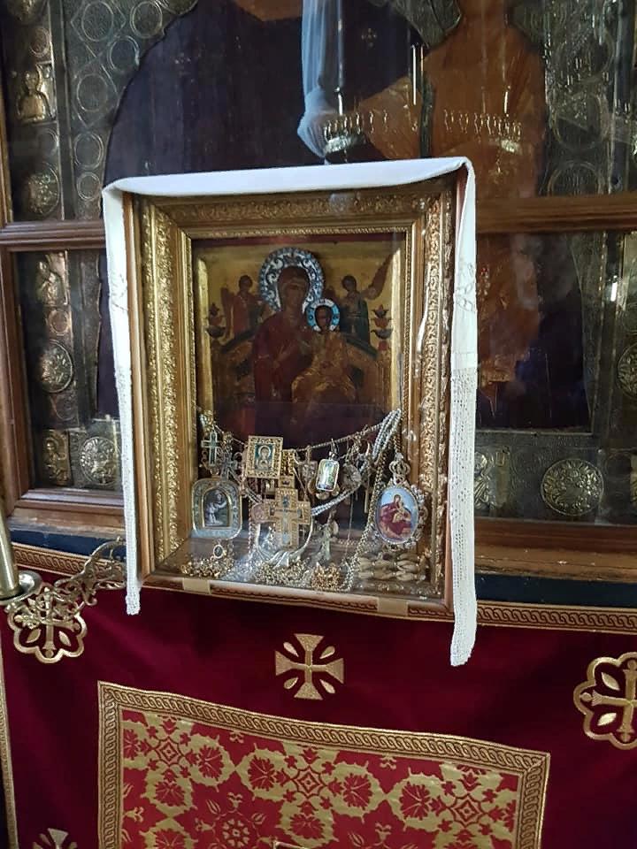Икона Всецарица в Ватопедском монастыре на Афоне
