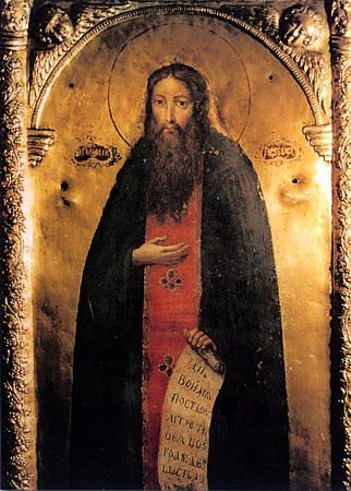 Преподобный Феодосий Печерский. Икона иконостаса пещерной церкви Киево-Печерской лавры.