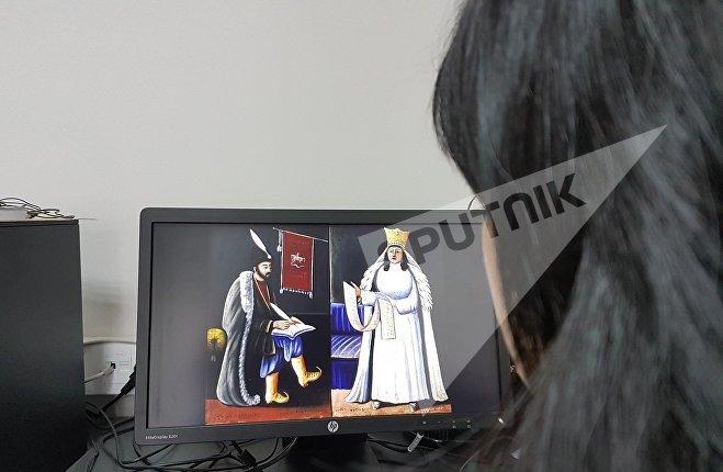 """Картины Нико Пиросмани - """"Царица Тамар"""" и """"Шота Руставели"""""""