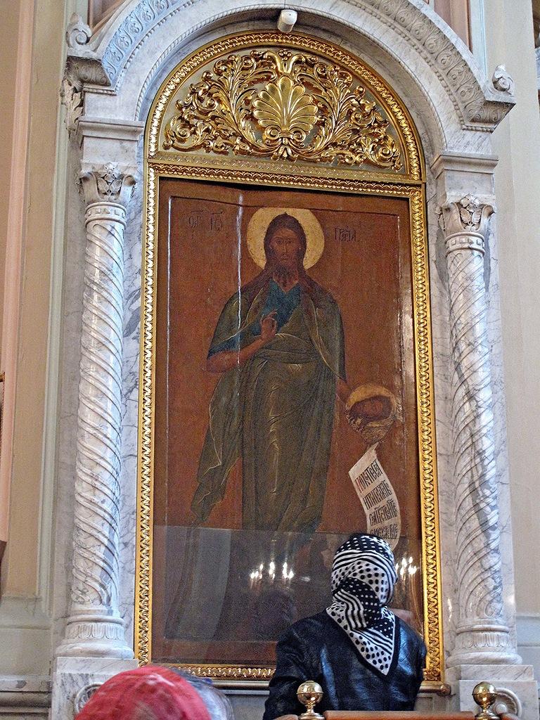 Чудотворная икона Иоанна Предтечи 16 века в Соборе монастыря