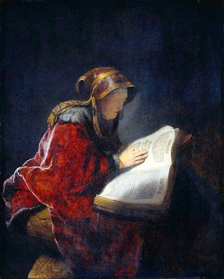 Анна пророчица (1631,Амстердам),Художник Рембрандт Харменс ван Рейн.