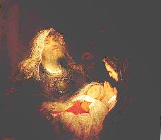 Симеон, Анна Пророчица и Младенец Иисус Аран де Гелдер 1700 Гаага.