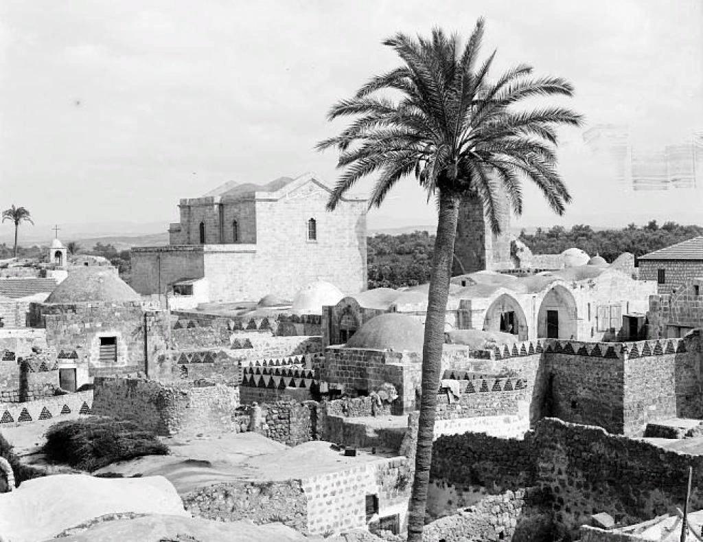 Церковь св.Георгия и мечеть аль-Омари в Лоди, фото 1900-20гг.