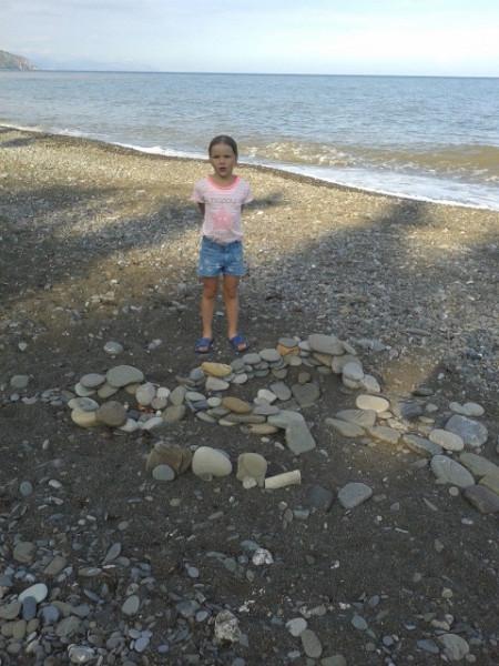 Майя на пляже 18.06.2015 в 18.06