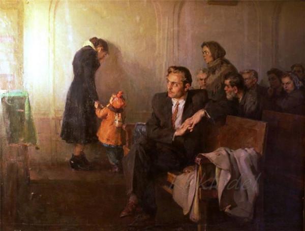 В советском суде. Автор Солодовников
