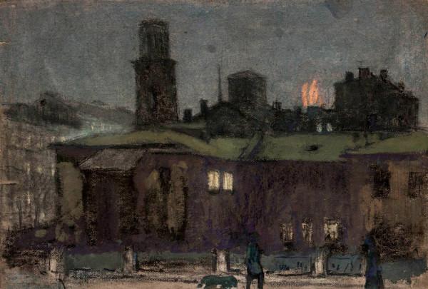 В ночном Ленинграде
