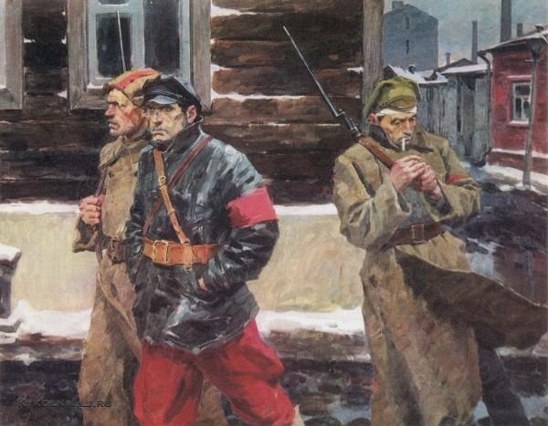 Пузырьков Виктор Григорьевич (1918-1999) «Патруль (ЧОН)» 1969