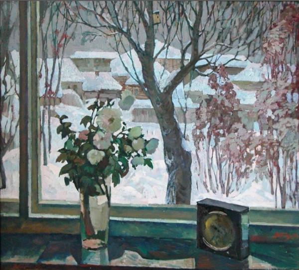 Пичугин Вячеслав Алексеевич (1935) «Хризантемы» 1976