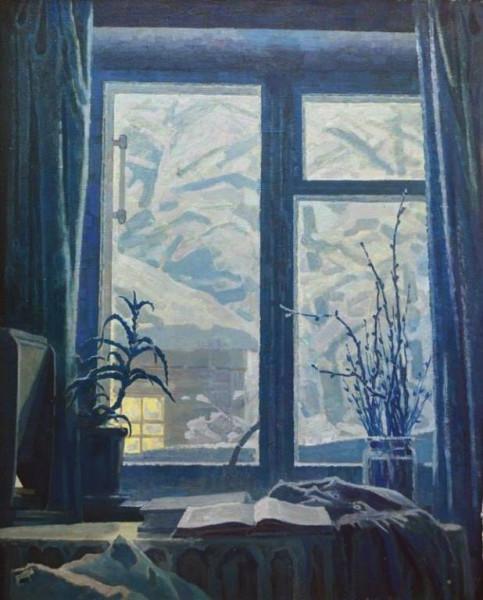 Безумов Александр Николаевич (1926-1982) «Зимнее окно» 1971