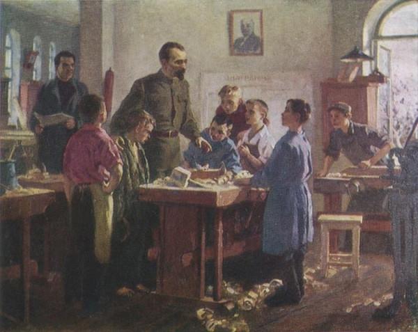 Дрезнина Вера Александровна (1924-2004) «Дзержинский в трудовой колонии» 1951