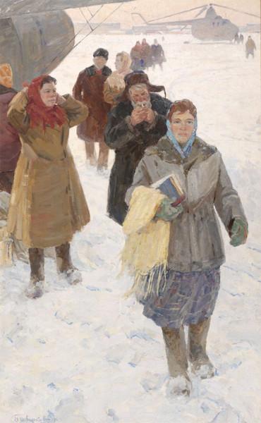 Шварков Борис Павлович (1920) «В аэропорту» 1964