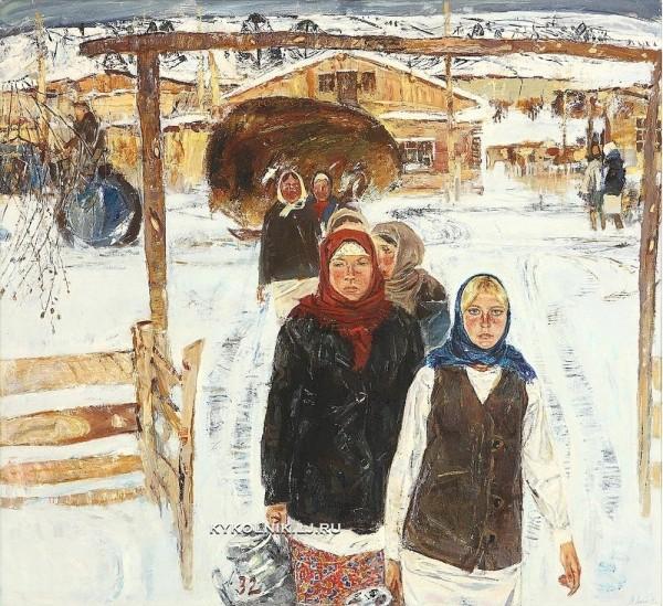 Знак Анатолий Маркович (1939-2002) «Доярки» 1971