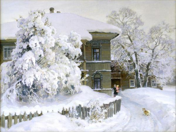 Бороздин Олег Александрович (1929) «Снег выпал» 1990
