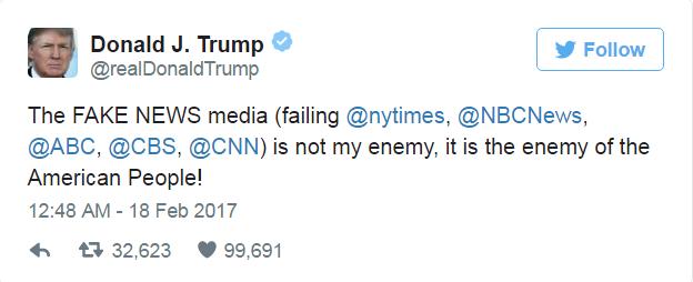 О конфликте Трампа и СМИ