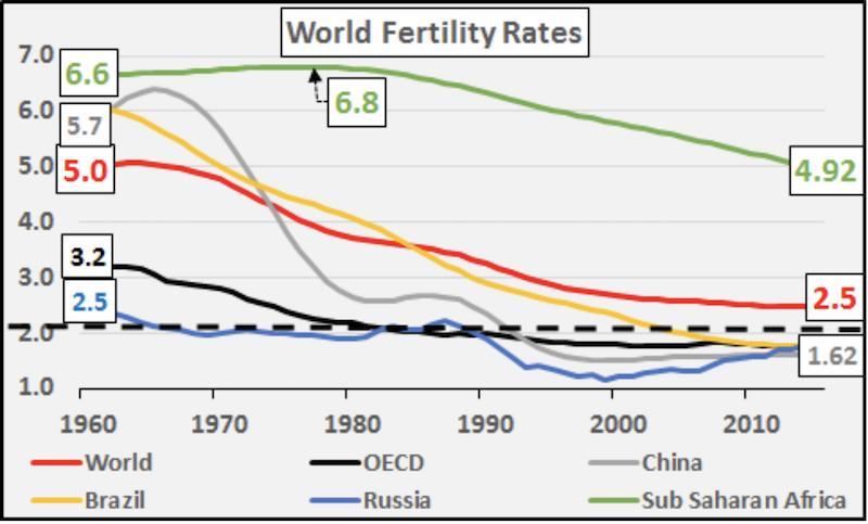 Рождаемость в мире драматически падает