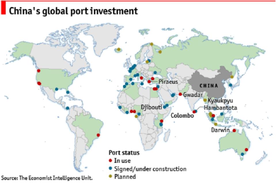 Китай скупает портовые мощности по всему миру