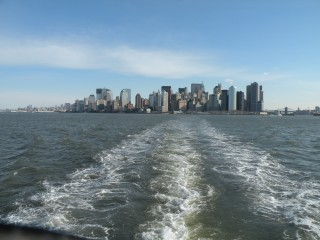 View of the city from the boat/Ferry.