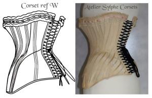 atelier sylphe corset ref W croquis bis