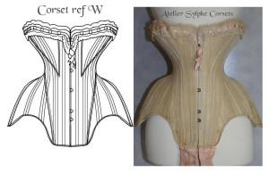 atelier sylphe corset ref W croquis