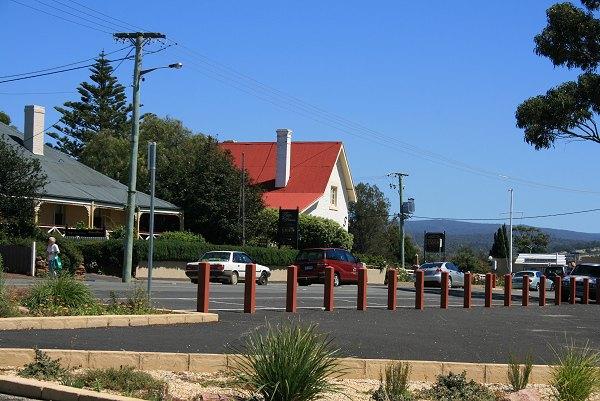Main street, near carpark