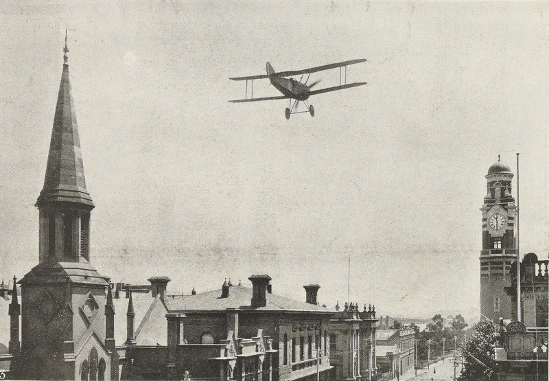 Plane over Launceston