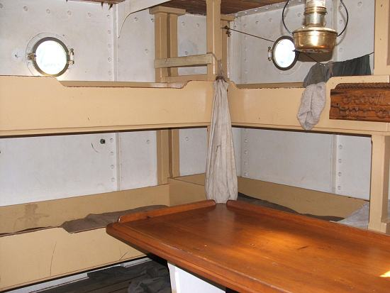 In deck cabin